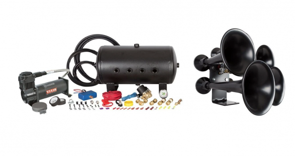 HornBlasters - Katrina 544K Nightmare Edition Train Horn Kit (This Kit does both! Honking & Capable Onboard Air Unit)
