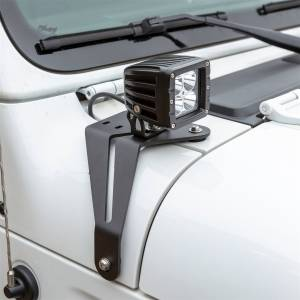 Lighting - Exterior - Windshield Hinge Light Bracket - ARIES - ARIES Jeep JL Windshield Lights and Brackets 1501305