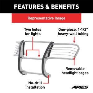 Grille - Brush Guard - ARIES - ARIES Grille Guard 3045-2