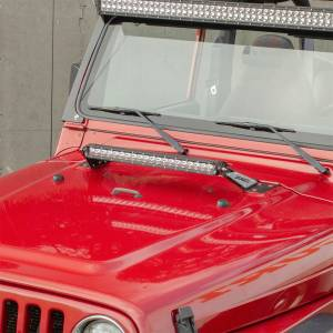 Lighting - Exterior - Light Bar - ARIES - ARIES Jeep Hood Light and Brackets 1501302