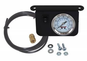 Air Tools - Air Pressure Gauge - Kleinn Automotive Air Horns - Kleinn Automotive Air Horns Illuminated 160 PSI Single Needle Dash Panel Gauge Kit with ON/OFF Switch 1301