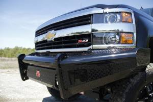 Fab Fours Black Steel Front Ranch Bumper CH05-S1361-1
