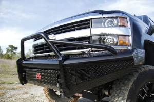 Fab Fours Black Steel Front Ranch Bumper CH05-S1362-1