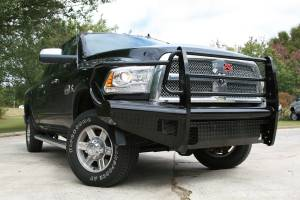 Fab Fours Black Steel Front Ranch Bumper DR06-S1160-1