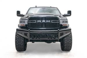 Fab Fours - Fab Fours Black Steel Front Bumper DR19-S4461-1