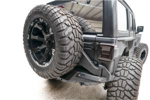 Spare Tire and Wheel - Spare Tire Carrier - Fab Fours - Fab Fours Off The Door Tire Carrier JL18-Y1851T-B