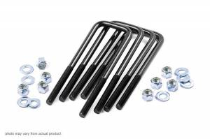 Hardware - Threaded U-Bolt - Rough Country - Rough Country 9/16-inch Square U-bolts (3.0 x 9.5) 7668