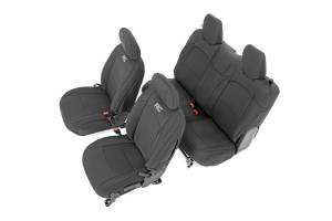 Seats - Seat Cover Set - Rough Country - Rough Country Jeep Neoprene Seat Cover Set, Black (18-20 Wrangler JL) 91020