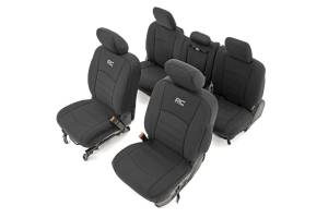 Seats - Seat Cover Set - Rough Country - Rough Country Dodge Neoprene Front & Rear Seat Covers (09-18 Ram 1500) 91029